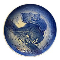 Bing Grondahl Mother's Day 1996 Koalas Plate