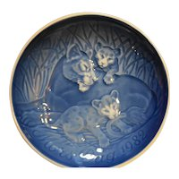 Bing Grondahl Mother's Day 1982 Lions Plate New in Box