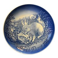 Bing Grondahl Mother's Day 1999 Rabbits Plate