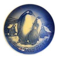 Bing Grondahl Mother's Day 1998 Emperor Penguin Plate