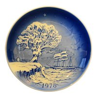 Desiree The Last Dream of the Old Oak Tree 1978 Christmas Plate Blue White