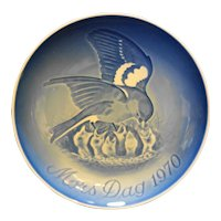 Bing Grondahl Mother's Day 1970 Birds Plate