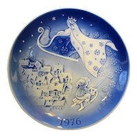 Desiree The Snow Queen 1976 Christmas Svend Jensen Plate Blue White