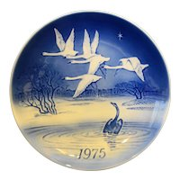 Desiree The Ugly Duckling 1975 Svend Jensen Christmas Plate Blue White