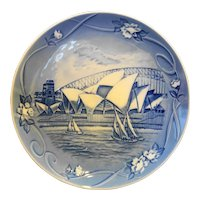 Bing Grondahl Sydney Places of Enchantment Blue Plate