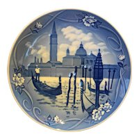 Bing Grondahl Venice Places of Enchantment Blue Plate 1997