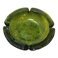 Anchor Hocking Soreno Avocado Green Large Ashtray 8 3/4 IN