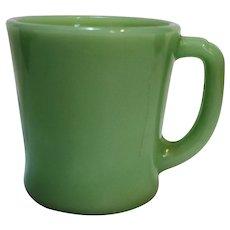 Fire King Jadeite Green D Handle Restaurant Ware Mug