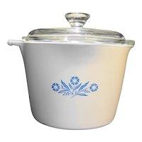 Corning Cornflower Sauce Maker Sauce Pot 4 Cup With Lid No Handle