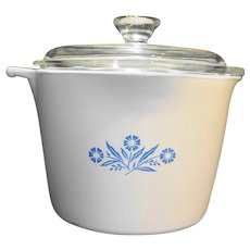 Corning Cornflower Sauce Maker Sauce Pot 4 Cup With Lid No Handle