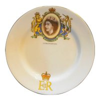 Elizabeth II Coronation Plate Royal Grafton Bone China England