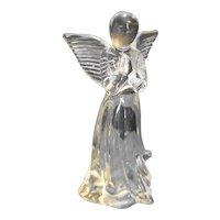 Lefton Clear Glass Angel Praying Figurine  Made in Taiwan