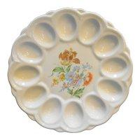 E&R American Artware Ceramic Deviled Egg Plate