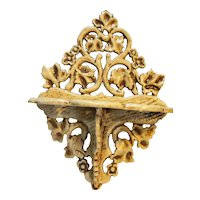 Ornate Ceramic Hand Made Wall Shelf