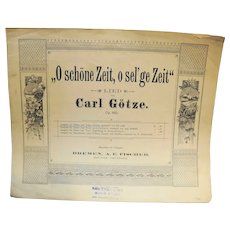 O Schone Zeit, O sel'ge Zeit Zither Sheet Music