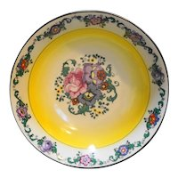Germany Art Deco Floral Porcelain Serving Bowl