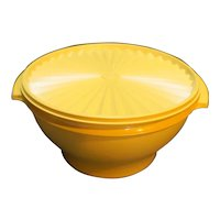 Tupperware 880 Servalier Harvest Gold Mixing Serving Bowl With Lid