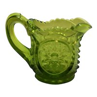 Smith Glass Green Mini Individual Creamer