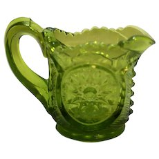 Smith Glass Green Mini Individual Creamer