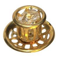 Austrian Crystal Mascot  24K Gold Plated Teacup Saucer