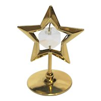 Austrian Crystal Mascot  24K Gold Plated Star Figurine