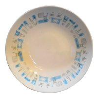 Royal China Blue Heaven Open Round Vegetable Bowl 9 IN