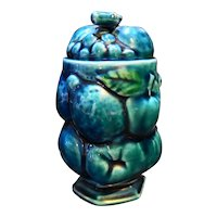 Inarco Mood Indigo Blue Green Fruit Grapes Condiment Jam Jar Small Japan