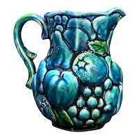 Inarco Mood Indigo Blue Green Fruit Grapes Small Pitcher Japan