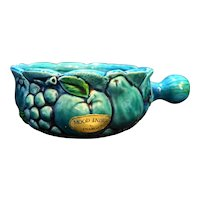 Inarco Mood Indigo Blue Green Fruit Grapes Soup Bowl Japan