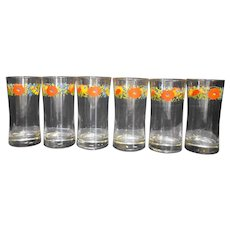 Corelle Wildflower Clear Glass Tumblers Set of 6