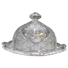 Indiana Glass Gaelic #158 Round Covered Butter Dish