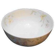 Mikasa Pastel Garden Narumi Japan Centerpiece Bowl