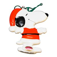 Snoopy Santa Claus Christmas Ornament Made in Japan