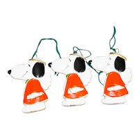 Snoopy Peanuts Angels Flat Christmas Ornaments Set of 3