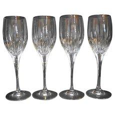 Mikasa Arctic Lights Crystal Wine Glasses Set of 4 8 1/4 IN