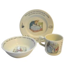 Wedgwood Peter Rabbit 3 Piece Set Plate Bowl Mug Nursery Set