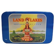 Land O'Lakes Sweet Cream Butter 75th Anniversary Advertising Tin Box