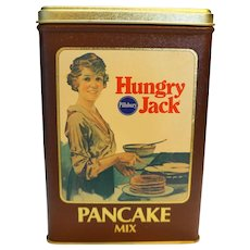 Hungry Jack Pancake Mix Advertising Tin