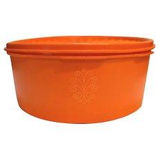 Tupperware 1204 Servalier Orange Short Canister