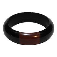Black Red Bangle Bracelet Plastic Chunky Plastic