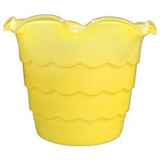 Anchor Hocking Fire King Yellow Flower Pot