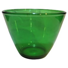 Fire King Forest Green Splash Proof Small Mixing Bowl Grease Jar