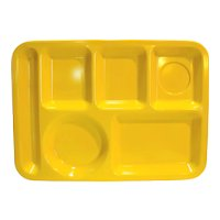 Texas Ware Yellow Cafeteria Trays Set of 4