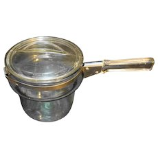 Pyrex 6763 Double Boiler Insert With lid Flameware