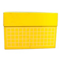 Ohio Art Recipe Box Yellow White Windowpane Plaid