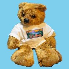 Douglas Keene LL Bear Cub Elliott Bean Light Brown Plush White Shirt 11 IN