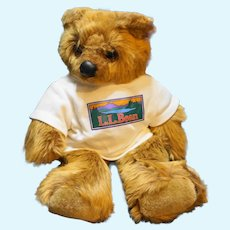 Douglas Keene LL Bear Cub Elliott Bean Light Brown Plush White Shirt 11 IN