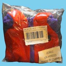 LL Bean LL Bear Elliot Cub Red Purple Fleece Snowsuit ODK61 New