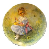 Reco Mother Goose Little Miss Muffet Collector Plate L Ed Jane McClelland 1981