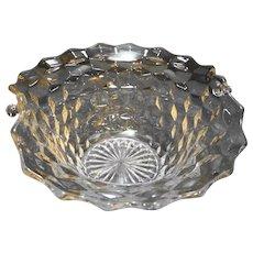 Fostoria American Basket No Handle Clear Glass